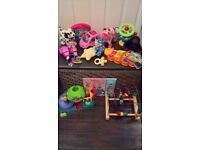 Job lot of toys and free toy box