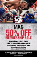 50% off all memberships at MAS ACADEMY