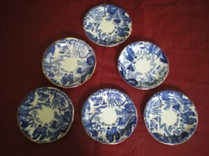 Royal Crown Derby 4 cups & 6 saucers