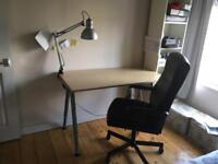 IKEA Workplace Table + Chair + work lamp as new