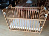 Wooden fold away Cot