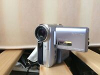 Sony camcorder, memory stick and carry case