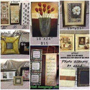Various Wall hangings, pictures and photo books