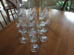 Crystal wine/ champagne flutes