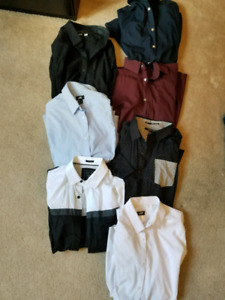 7 H&M & Guess Mens Small Buttoned Classy Shirts