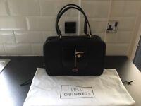 Lulu Guinness Dora Face Jenny black handbag