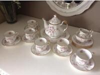 "Royal Albert ""Victoriana Rose"" Tea Set"