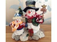 Christmas in July Let it Snow Snowman Family Christmas Ornament NEW & Boxed