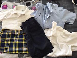 High School Uniform Shirts/Shorts/Skirt