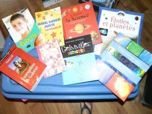 livres informatifs et romans et One direction