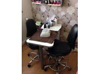 Nail bar/manicure desk beauty therapy
