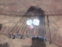Golf clubs 16 assorted plus bag
