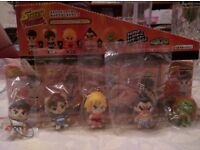 Very Rare - Full set of 9 Limited edition Street Fighter Mini Figurines
