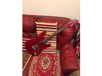 Fender Squire in Trans Crimson Double fat strat