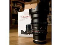Barely used: Samyang 24mm T1.5 - For Sony E
