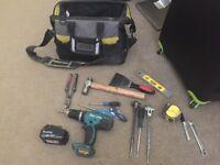 Work tool and makitia set
