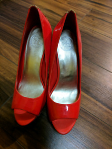 Red patent leather stilletos - Ladies size 9.5 BRAND NEW