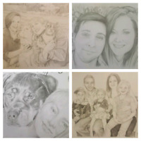 8x10 Drawings and Paintings - $60
