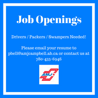 Drivers, Swampers & Packers Needed Today!!!