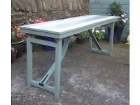 Painted Pine Trestle Display / Patio Table