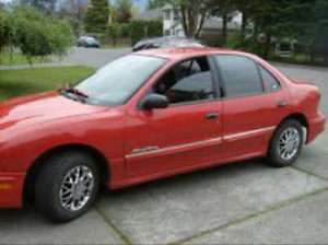 2001 Pontiac Sunfire Red