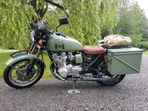 Military Style 1979 GS850 Customized