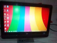 "HP touchsmart PC,20"" FULL HD MULTI TOUCH SCREEN,500GB HARDDRIVE WIFI,OFFICE"