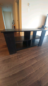 Black tv stand (wooden)