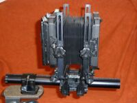 Toyo view large format monorail field camera with Schneider 5.6/200 lens and extras £450