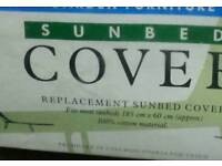 Sunbed Cover. 100 % Cotton. Still in packaging.