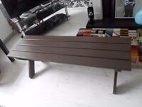 Hardwood garden bench/table - very sturdy - good condition.