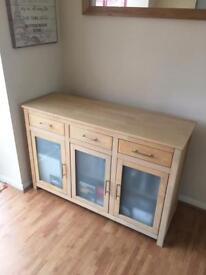 Three drawer, 3 cupboard side board