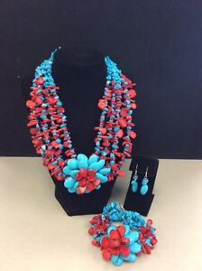 Coral Set - Red and Blue