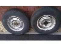 10 inch wheels mini/trailer