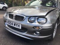 MG ZR 1.4 BREAKING/REPAIR - CAN BE REPAIRED PARTS INCLUDED-NEW COOLANT SYSTEM and LOW MILAGE ENGINE