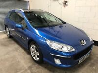 Pugeout 407 SW 2.0 HDI Luxury, Panoramic Sun Roof, Air Con, Alloys,12 Month Mot 3 Month Warranty