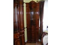CAN DELIVER - VERY RARE HIGHLY POLISHED ITALIAN CORNER CABINET - CORNER UNIT IN VERY GOOD CONDITION