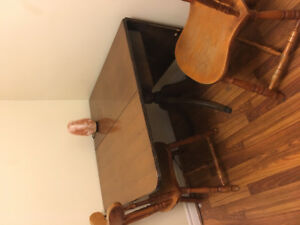 Antique Dining Table and 2 Chairs- NEED GONE