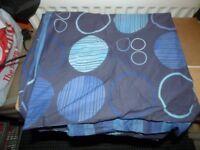Blue Reversible Double Duvet Bedding Set