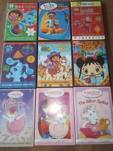 9 kids dvd's for $9 only $1 each
