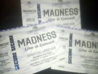 3 Madness tickets 18th August Durham. Open to sensible offers