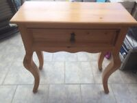 Telephone Table- Solid Pine- Good Condition