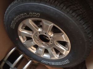 """4 each Brand New 20"""" Michelin Tires with Rims"""