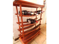 large hard wood wine rack