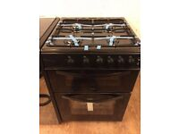 #13 New Ex-Display Logik LFTG60B16 Black 60cm Gas Cooker £229