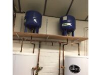 Telford Tempest 500L hot water cylinders (boilers) with expansion vessels and lifetime warranty