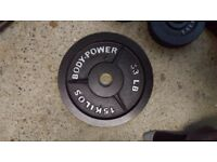 Cast Iron BodyPower Olympic Weights Set-100kg