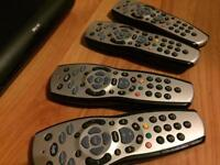 Sky hd remotes & box