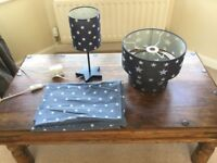 Stars Single bed set, with matching lamp and shade