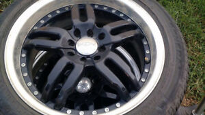 4 x 205 50 17's on 4x100 or 4x114.3 alloy rims.